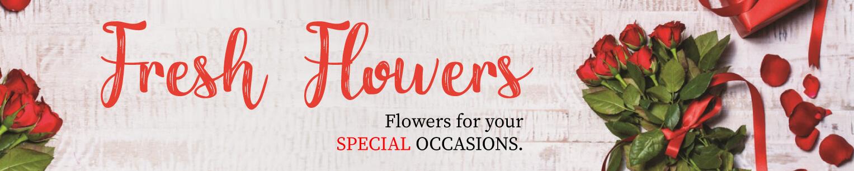 Fresh Flowers Banner