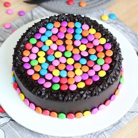 Chocolate gems cake