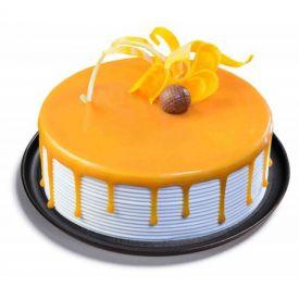 Round shape mango cake