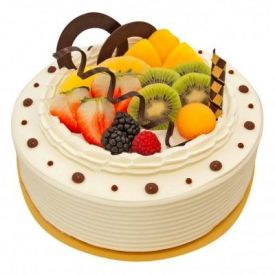Vanilla Fruits Cake