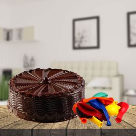 Chocolate Cake With Balloons