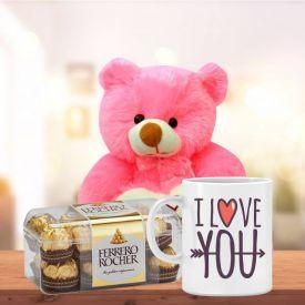 Mug, Teddy & Ferrero Rocher