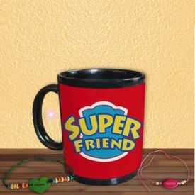 Super Friend Mug with friendship Band