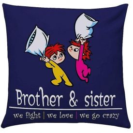 Crazy Brother Sister Cushion