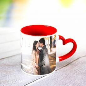 Heart Handle Personalized Mug
