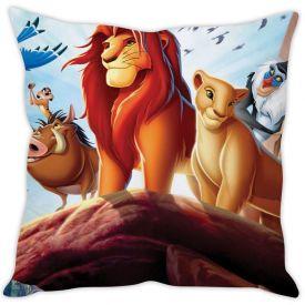 Lion King Blue Silk Cushion