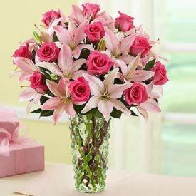 Pink Flowers In Vase
