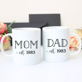 Mom Dad Mug Set