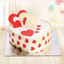 Cake heart shape fondant
