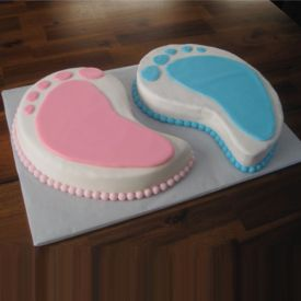 welcome twins cake
