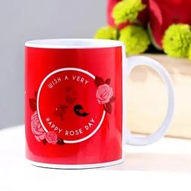 Red Rose day mug