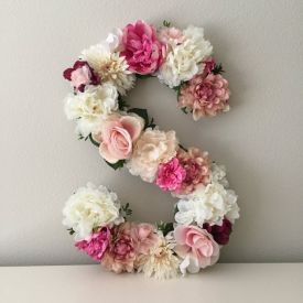Personalized Alphabet Flowers