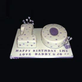 Birthday Double Number Shape Cake
