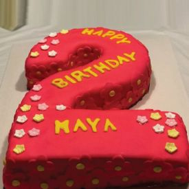 Fondant Number Shape Cake