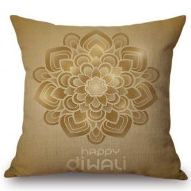 Yellow Cushion For Diwali