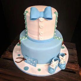 Girl baby bootie cake