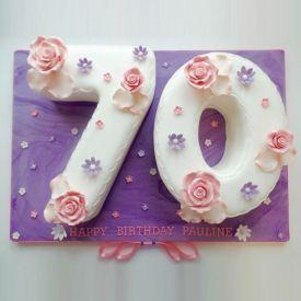 Floral Number Fondant Cake
