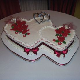Couple Heart shaped Cake