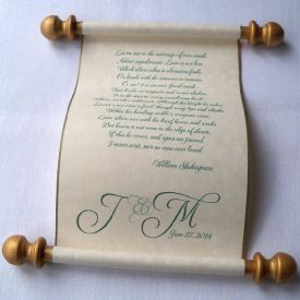 Customized scroll