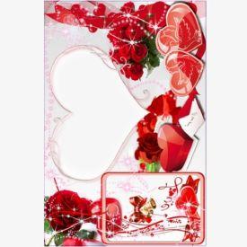 heart shape photo frame