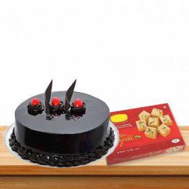 Truffle Cake With Soan papdi