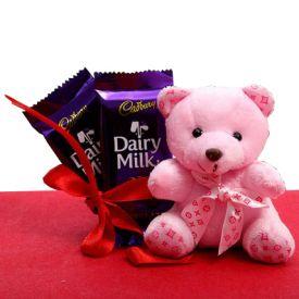 Teddy with Dairy Milk