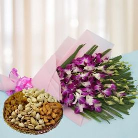 Dry Fruits with Flowers