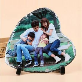 Happy Valentine Day with Heart Shaped Photo Stone