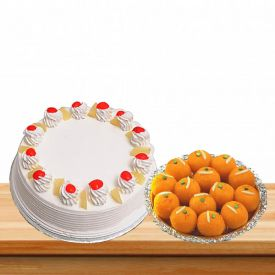 Pineapple cake Motichoor Laddu