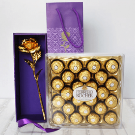 Ferrero Rocher With Golden Roses