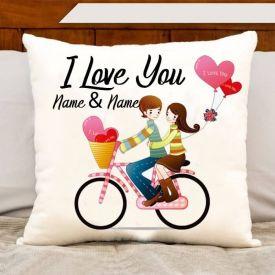 Love You Name Cushion