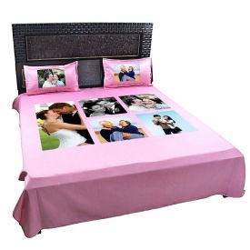 PERSONALIZED BEDSHEET WITH 5 SETS OF PICTURES