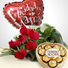 Surprise Of Love: Bouquet, Chocolates & Balloon