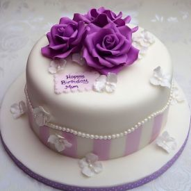 purple birthday cake