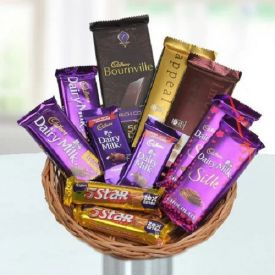 Mixed Chocolates with basket