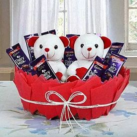 Teddy with Chocolates Arrangements