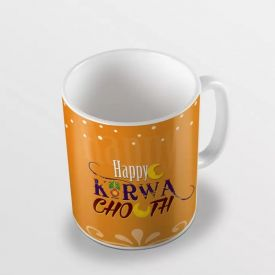 Sky Trends Happy Karwa Chauth Moon Design Best Gifts For Wife And Husband Coffee Mug