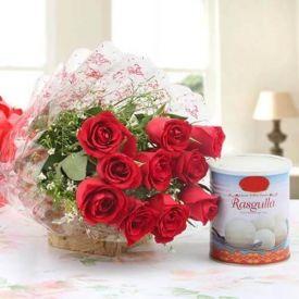 Red Roses N Rasgulla