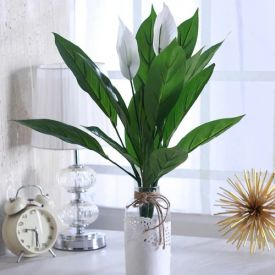 Green Plastic Miniature Artificial Plant