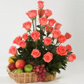 Roses with Mixed Fruits