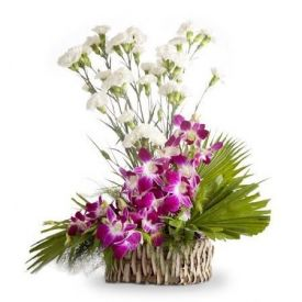 Carnation With Orchids Arrangements