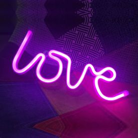 LED Light Wall Hanging love Letter Shape