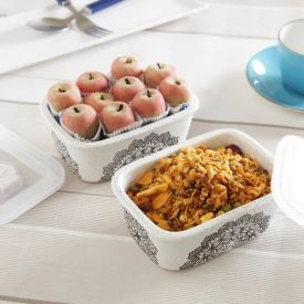 Kanha Kaju Apple & Masti Mix Namkeen With 2 Ceramic Containers