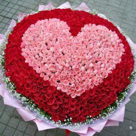 Heart Shape Roses Garden