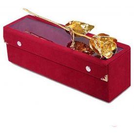 Golden Rose with velvet box