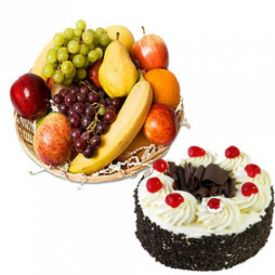 Black Forest Cake with Mixed Fruits