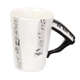 Music mug with instrument handle