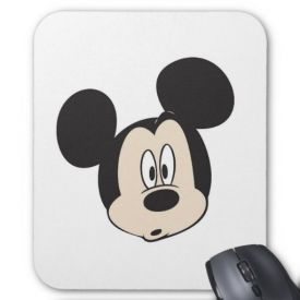 Micky Mouse Surprised face Mouse pad
