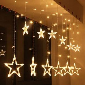 LED Curtain String Lights with 12 Stars
