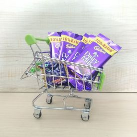 Trolly of chocolaates